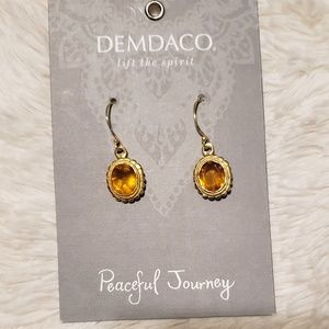 BNWT Citrine and Gold Demdaco Earrings